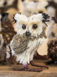 Toy owl from straw Royalty Free Stock Images