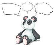 A toy panda with empty thoughts Stock Image