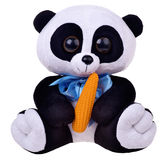 Toy Panda mou sur le fond blanc Photos stock