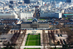 Toy Paris. The  photo show the Paris with tilt-shift filter Royalty Free Stock Photo