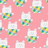Toy Patchwork Mousy Seamless Pattern mou Image stock