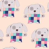 Toy Patchwork Puppy Seamless Pattern mou Image stock