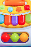 Toy piano. Colorful keys of a plastic toy piano Royalty Free Stock Photo