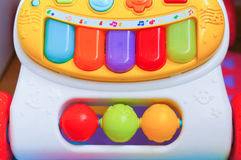 Toy piano. Colorful keys of a plastic toy piano Royalty Free Stock Photos