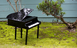 Toy piano in the garden Royalty Free Stock Images