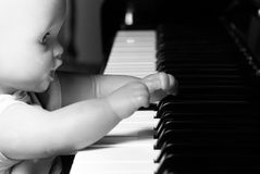 Toy and piano Stock Photography
