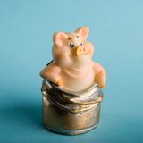 Toy a pig royalty free stock photography