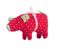 Toy pig isolated on white Royalty Free Stock Images