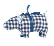 Toy pig isolated on white Royalty Free Stock Photography