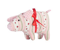 Toy pig isolated on white Royalty Free Stock Photo