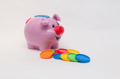 Toy piggy bank Stock Photography