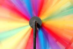 Toy Pinwheel. Multi colored spinning toy Pinwheel royalty free stock image