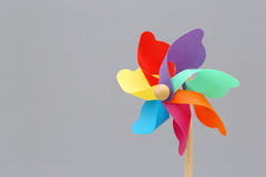 Toy pinwheel Stock Photo