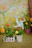 Toy pinwheel Stock Photography