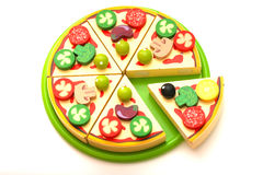 Toy pizza Stock Images