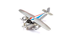 Toy plane. Isolated on white background royalty free stock photos