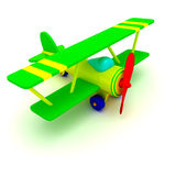 Toy plane. Toy airplane isolated on the white background Stock Photos
