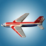 Toy plane. Against blue sky stock photography