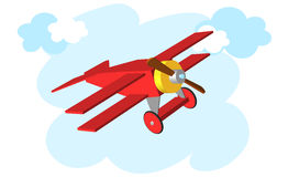 Toy plane. Airplane Vector illustration eps 10. Stock Image