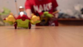 A toy plane stock footage