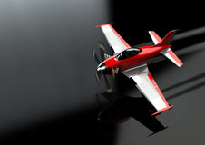 Toy Plane Flyby stock photography