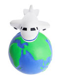Toy Plane and Globe Royalty Free Stock Image