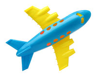 Toy plane. Plastic toy plane isolated on white background Stock Photo