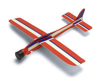 Toy Plane. Plastic Styrofoam Toy Plane  on a White Background Stock Image
