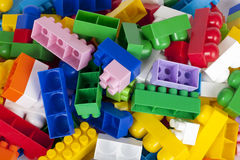 Toy plastic blocks Stock Photos