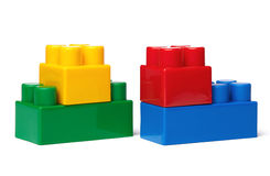 Toy Plastic Blocks Stock Afbeeldingen