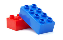 Toy plastic blocks Royalty Free Stock Image