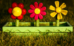 Toy plastic flower pot Stock Images