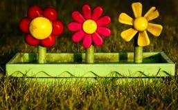 Toy plastic flower pot Stock Images