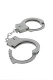 Toy plastic handcuffs Royalty Free Stock Image