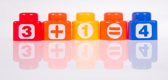 Toy. Plastic toy blocks on the background Royalty Free Stock Photography