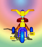 Toy Plastic tricycle. Extracted royalty free illustration