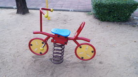 Toy in playground. Toy playground in garden and park Royalty Free Stock Images