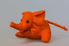 Toy plush elephant Stock Images