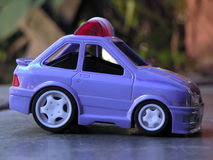 Toy police car. From the side Stock Photo