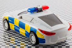 Toy police car Royalty Free Stock Photos