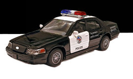 Toy police car. Royalty Free Stock Photo