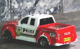 A toy police car royalty free stock photography