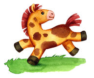 Toy pony running  Stock Images