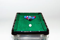 Toy pool table Royalty Free Stock Photography