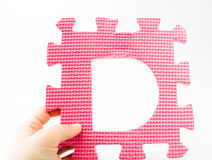 Toy puzzle - The letter D Royalty Free Stock Image
