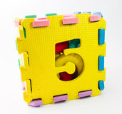 Toy puzzle - The number five Royalty Free Stock Photos