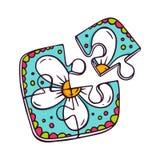 Toy puzzle  on white Royalty Free Stock Photo