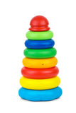 Toy pyramid. Isolated on the white background Stock Photo