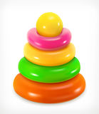 Toy pyramid, vector icon Royalty Free Stock Image