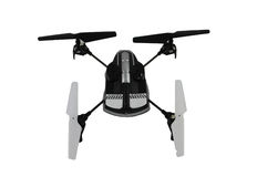 Toy quad copter drone isolated on white Royalty Free Stock Photography
